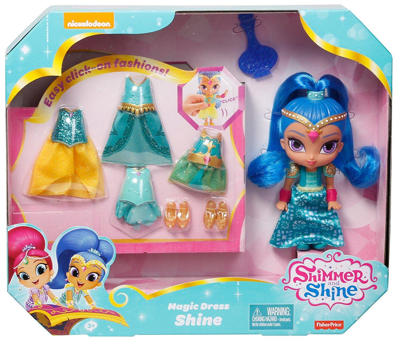 Amazon.com: Fisher-Price Shimmer and Shine Magic Dress Shine: Toys & Games