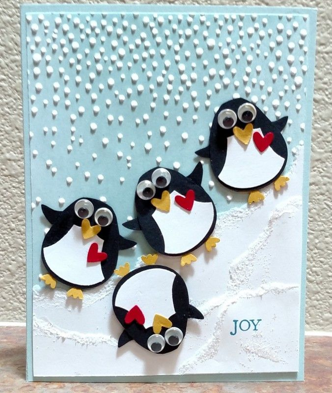Penguin Christmas Cards Homemade.Holiday On The Slopes By Donnaks Cards And Paper Crafts