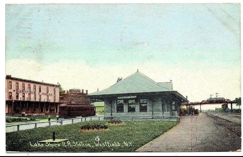 Westfield New York Lake Shore RR Railroad Station Depot