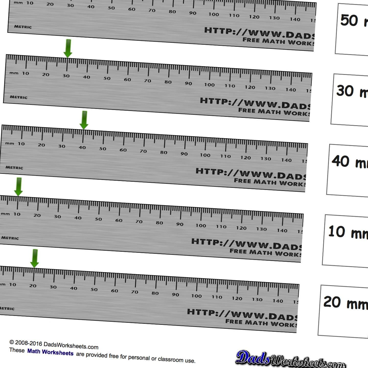 Metric Measurement This Page Contains Links To Free Math