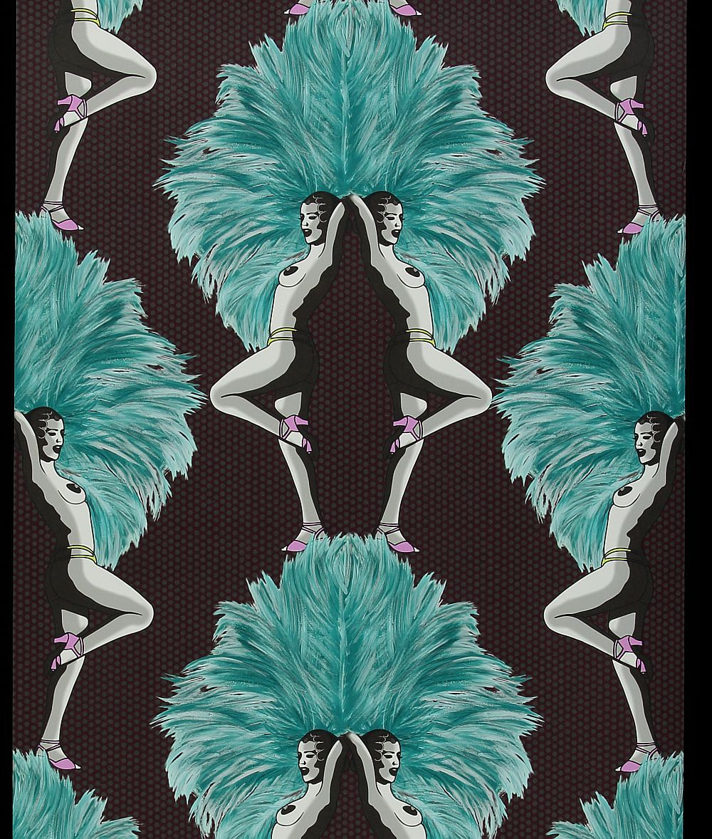 Showgirls by Graduate Collection Blue Wallpaper