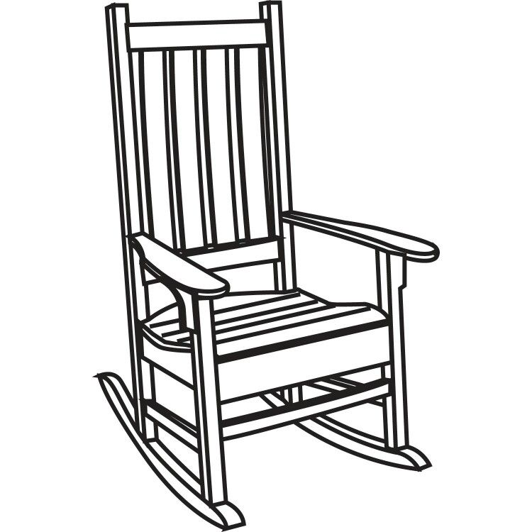 Rocking Chair Rocking Chair Chair Drawing Rocking Chair Porch