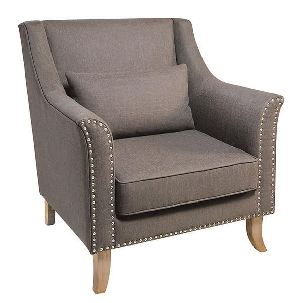 Best Barkby 2 Seater Leather Sofa Grey Armchair Fabric 400 x 300