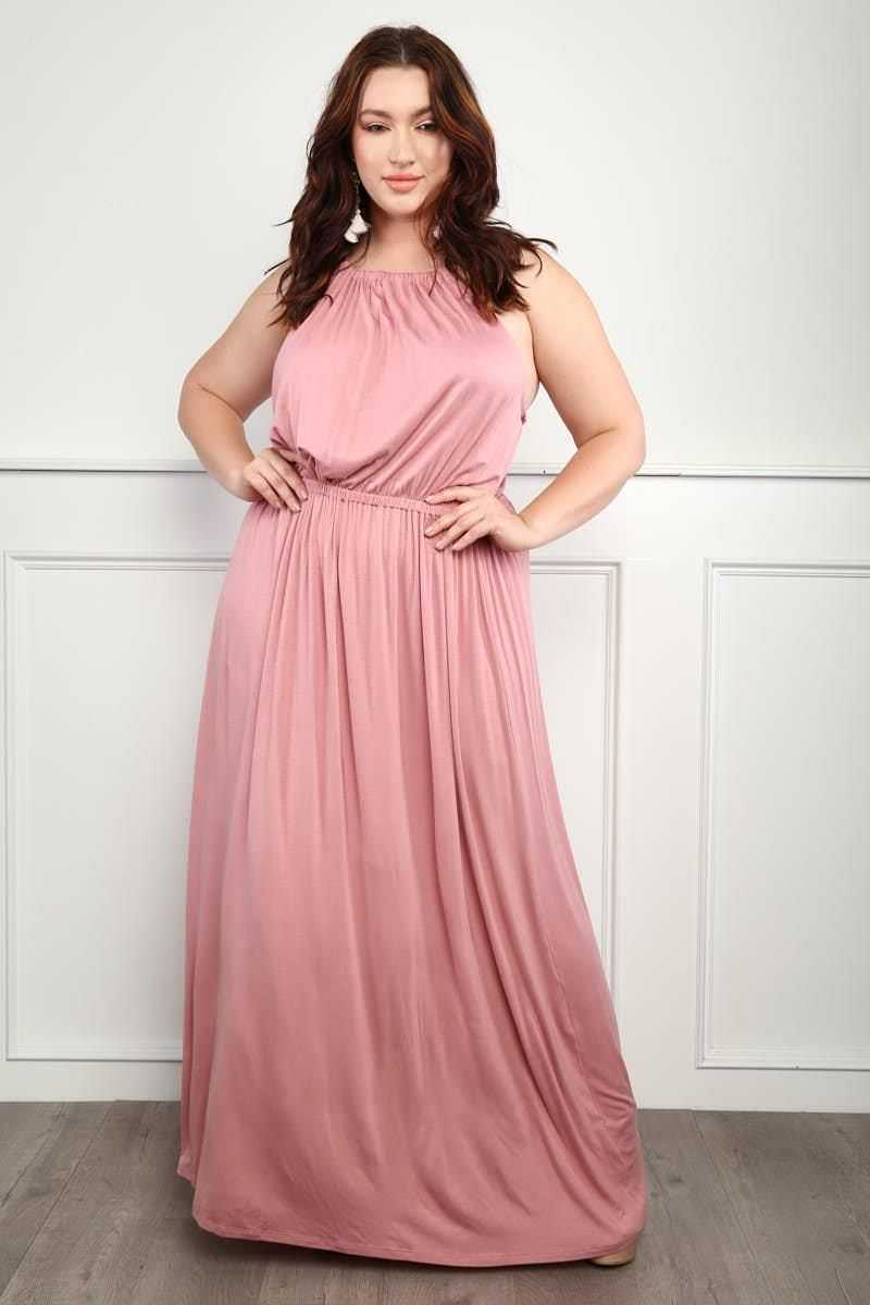 76a91a1cd39 Magic Slumber Plus Size High-Neck Maxi Dress