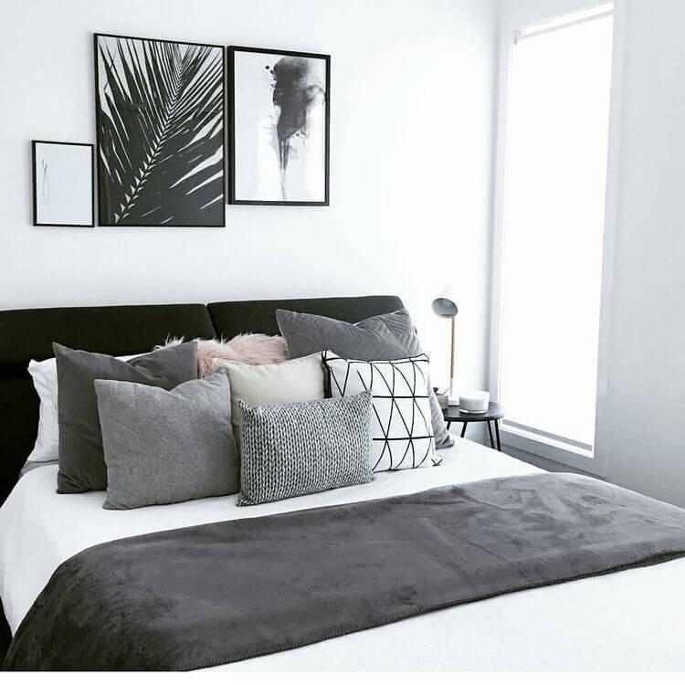 30 erstaunliche SchwarzWeißSchlafzimmerDesignIdeen für