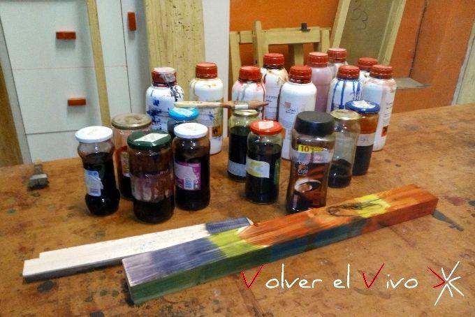 Tintes para madera, muestra de color