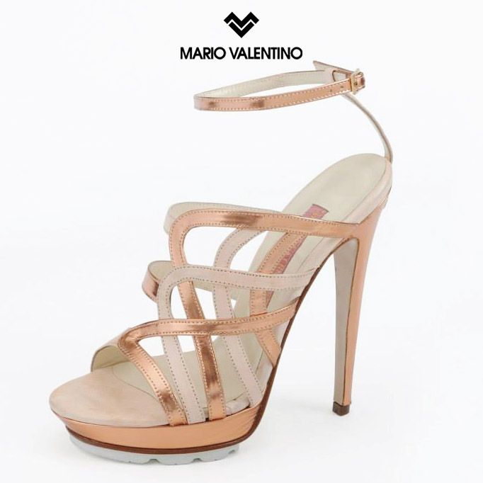 Mario Valentino S/S 2015 #shoes #fashion #heels #design #leather #pink #sandals #waves