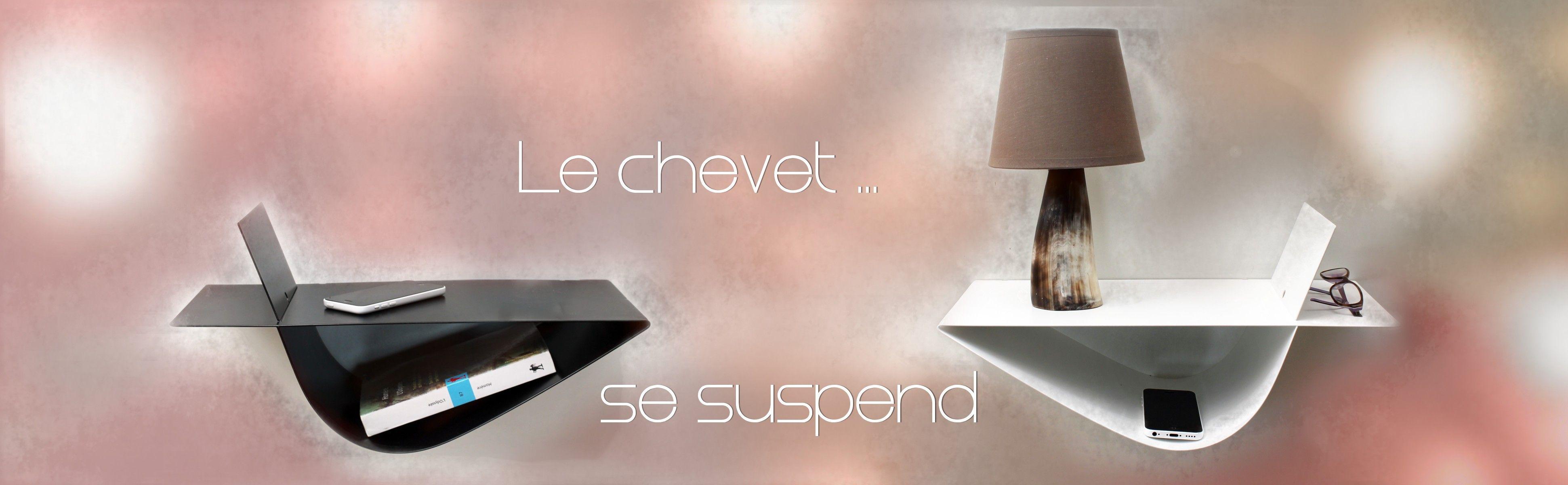 table de chevet suspendue chevet mural
