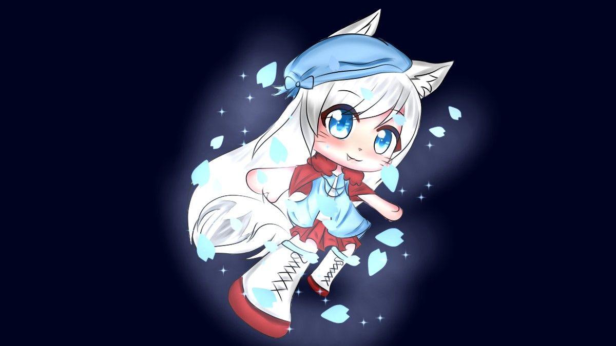 Gacha Life Edit Kawaii Drawings Anime Wolf Girl Chibi