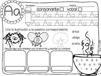 letras fabulosas alphabet letter practice in spanish kinderland collaborative pinterest. Black Bedroom Furniture Sets. Home Design Ideas