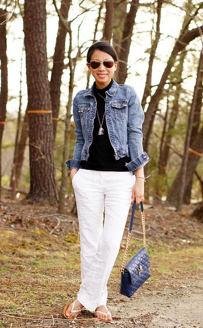 6cf0c8e8bde have linen pants and jacket. Have black purse and can pair with black tee.