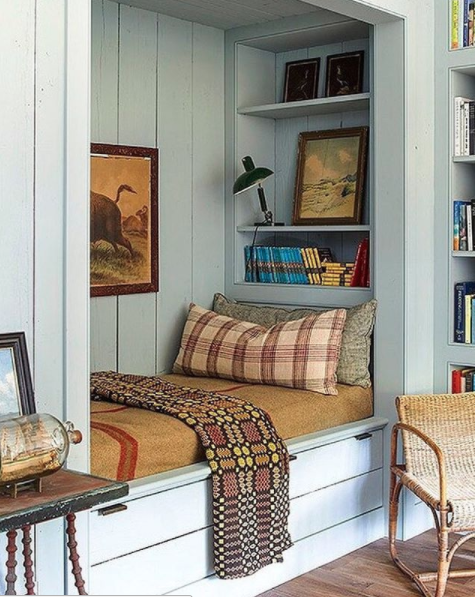 Beautiful 5 Photos That Stopped Me In My Scroll (The Lettered Cottage). Cozy DenCozy  NookUpstairs BedroomBedroom BoysBedroomsBunk RoomsBunk BedCloset ...