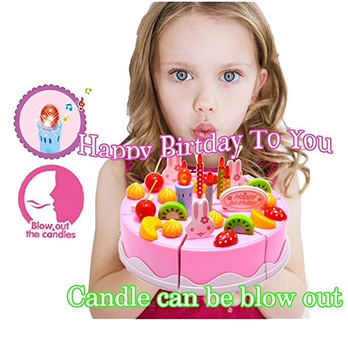 Pleasant Amazon Com Singing Birthday Cake Toy With Light And Sound Sings Personalised Birthday Cards Petedlily Jamesorg