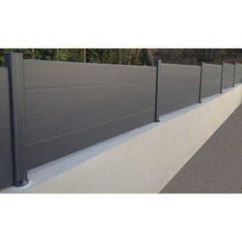 Lame Aluminium Klos Up Gris Zingue H 15 X L 145 Cm Amenagement Jardin Cloture Cloture Maison Cloture Aluminium