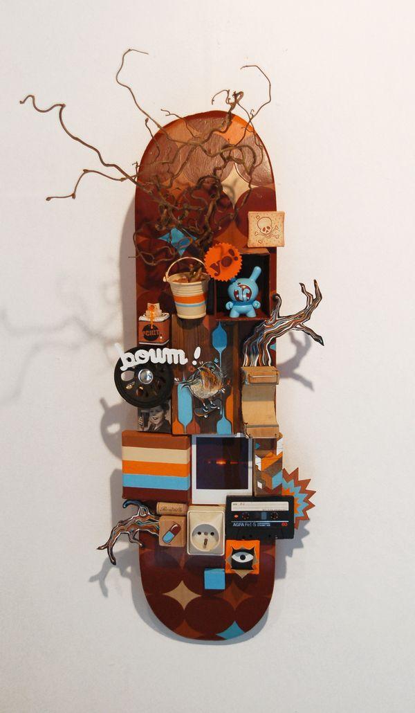 Break Your Neck By The Feebles Skateboard Art Skate Art Designer Toys