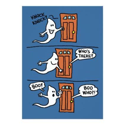 Knock Knock Ghost Halloween Joke Kid Party Invite - invitations ...