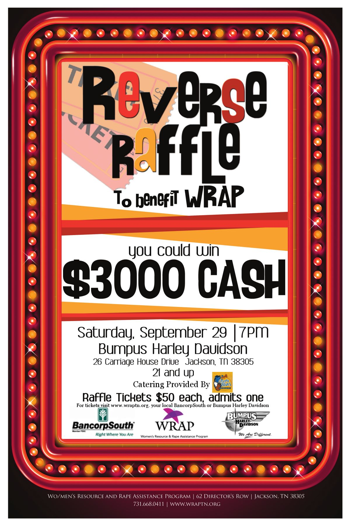 come out and help us help our clients in this reverse raffle were going to have a great time