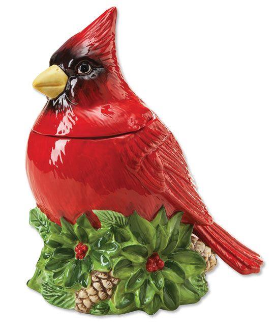 Mccoys Christmas Trees: Cardinal Cookie Jar -- Orvis.com In 2019