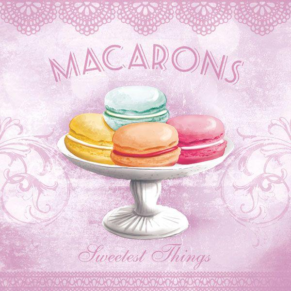 Servítky Macarons rose