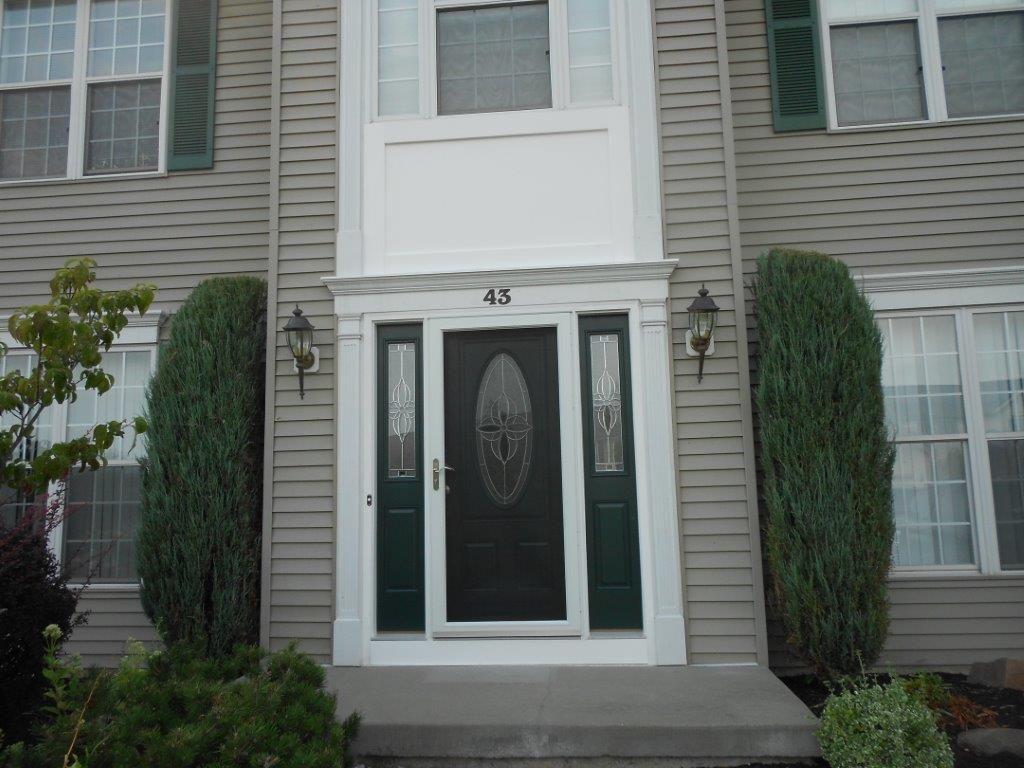 Pella Brand Rosetta Oval Door With Half Side Lights And Storm Door
