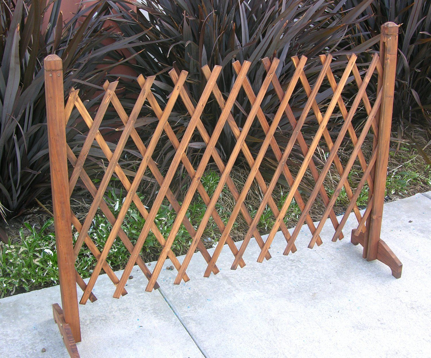Buy Expanding Portable Fence Wooden Screen Dog Gate Pet Safety Kid Patio  Garden Lawn At Online Store