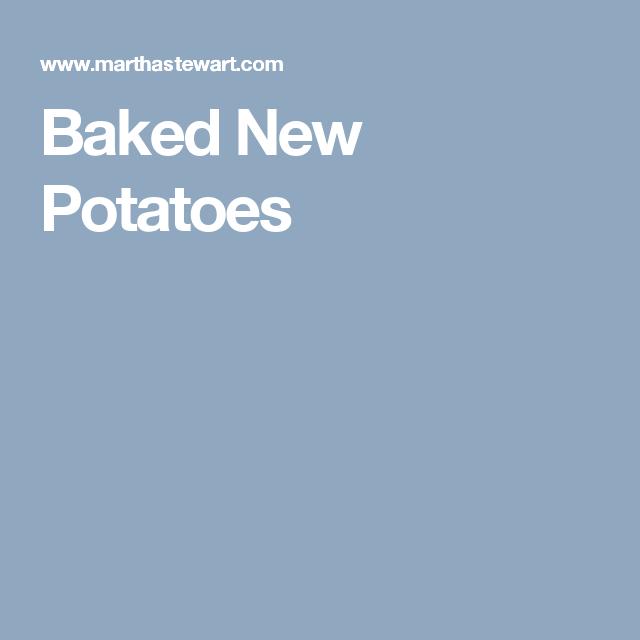 Baked New Potatoes