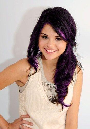 Selena gomez live the dark brown with purple peekaboo highlights live the dark brown with purple peekaboo highlights pmusecretfo Image collections