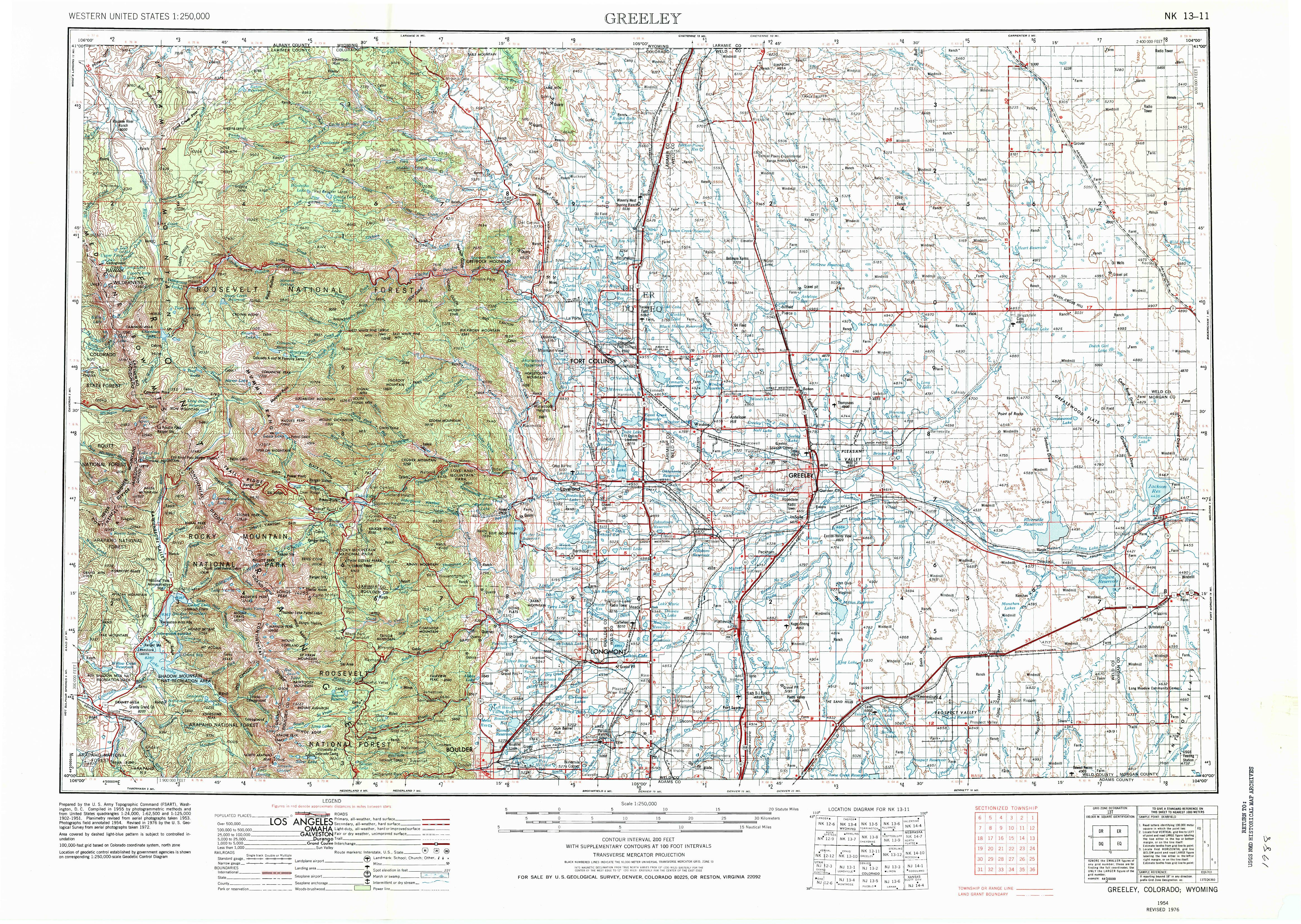 Greeley CO Map From The USGS Historical Topographic Map - Topographic map of western us