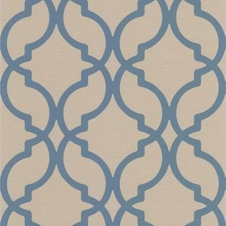 Brewster DL30617 Harira Blue Moroccan Trellis Wallpaper