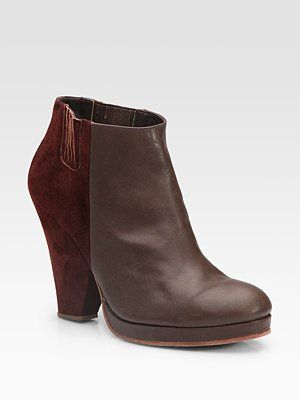 $193 Rachel Comey Knox leather & suede ankle boots