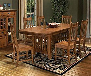 Janes Gallerie Mission Leopold 7 Pc Dining Set 42 X 72 90 18