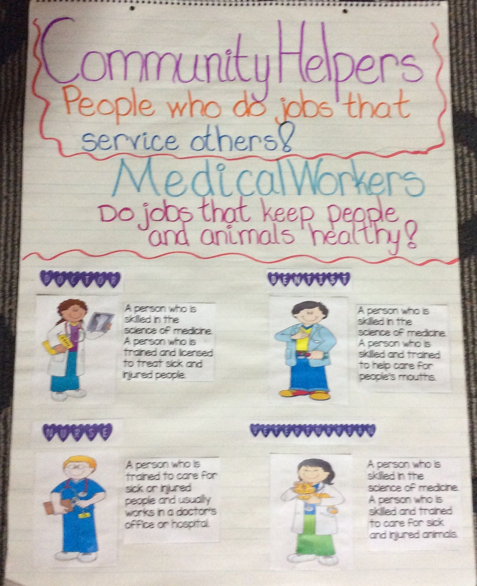 Beginning Our Theme About Community Helpers Starting With