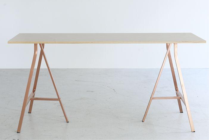 IKEA BRÅKIG copper trestle table work Pinterest Wohnen - ikea küche tisch