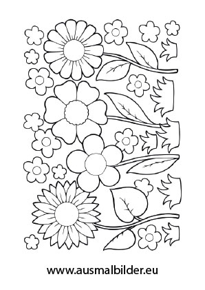 Ausmalbild Blumenfeld Blumen Ausmalen Blumen Ausmalbilder Ausmalen