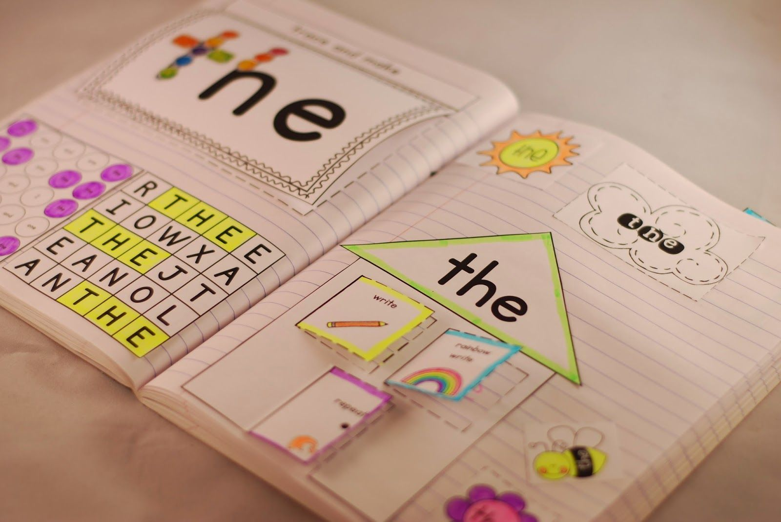 Sight Word Interactive Notebooks Sight Words Kindergarten Teaching Sight Words Interactive Notebooks
