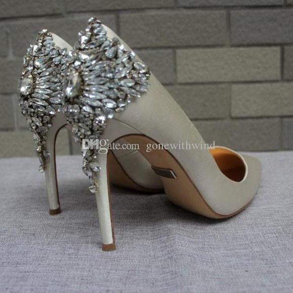 2017 New Arrival Bridal Shoes White Burgundy Blue Green Grey Black