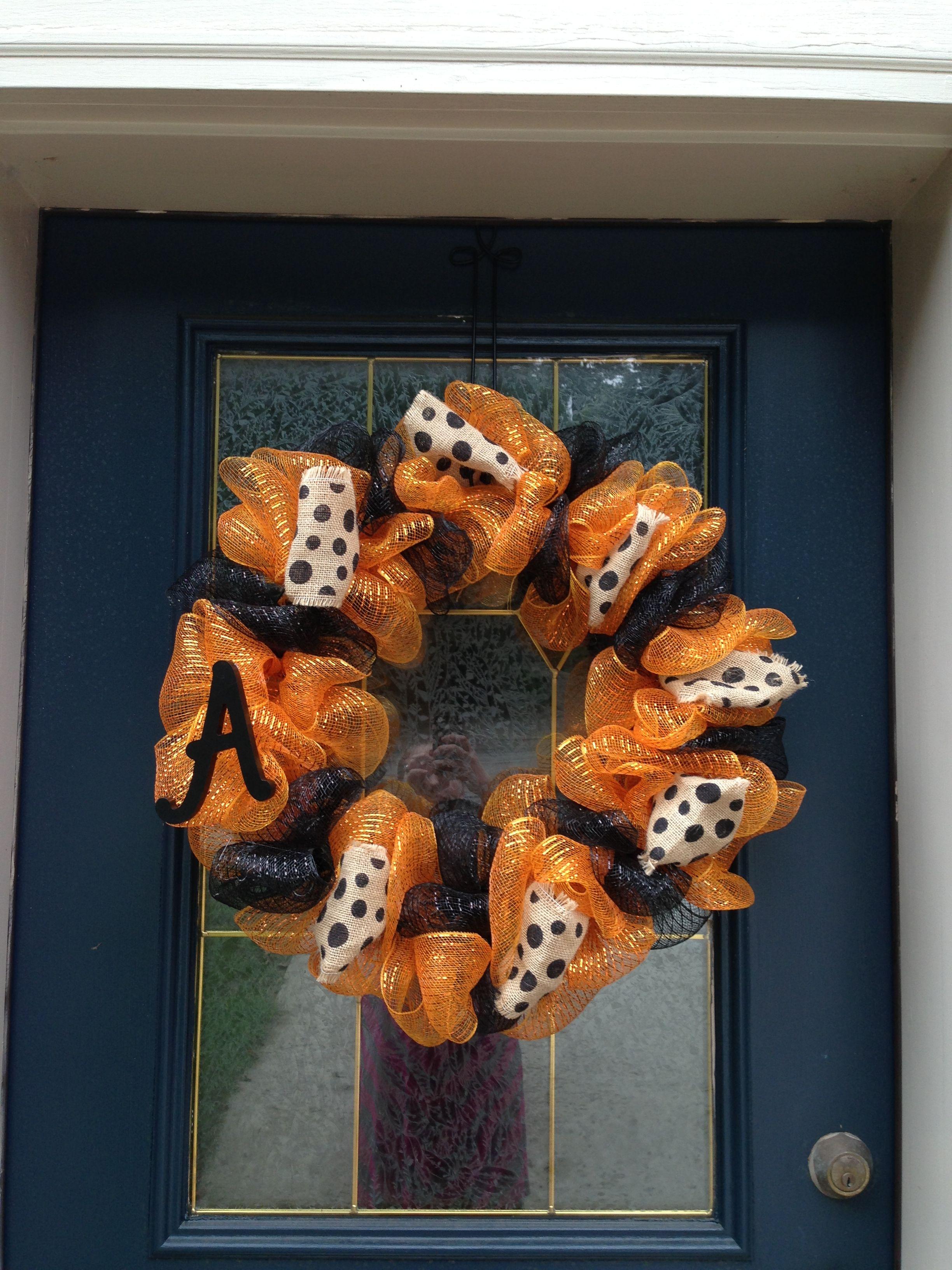 Diy school spirit wreath wreaths floral wreath crafts