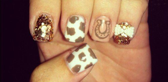 Horseshoe Nails Toe Nail Designs Country Nails Country Nail Designs
