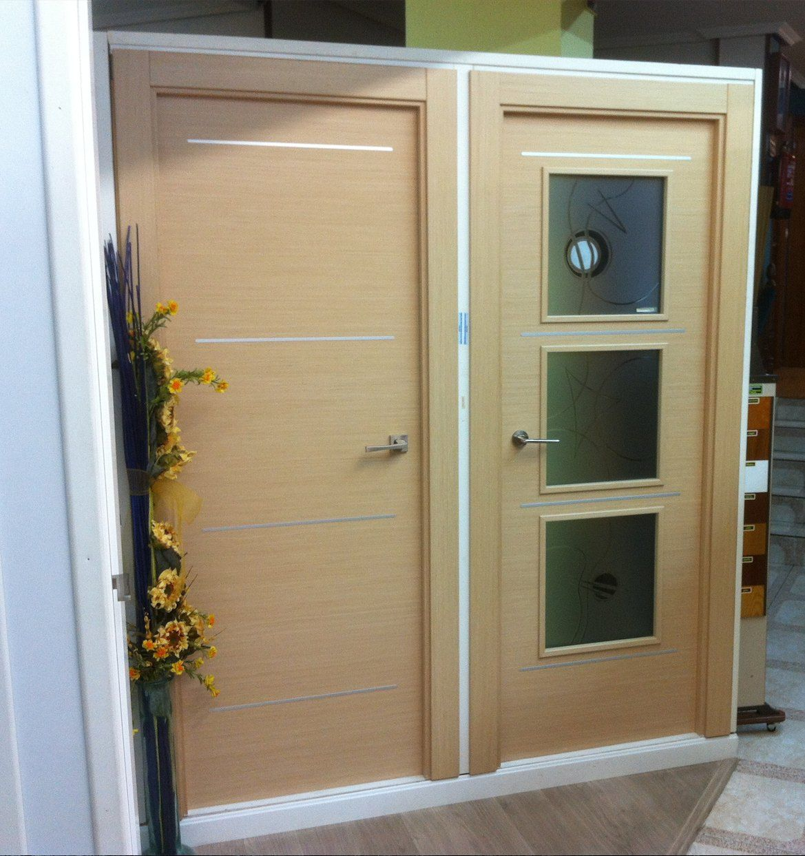 puertas de interior realizado en chapa de roble decap con