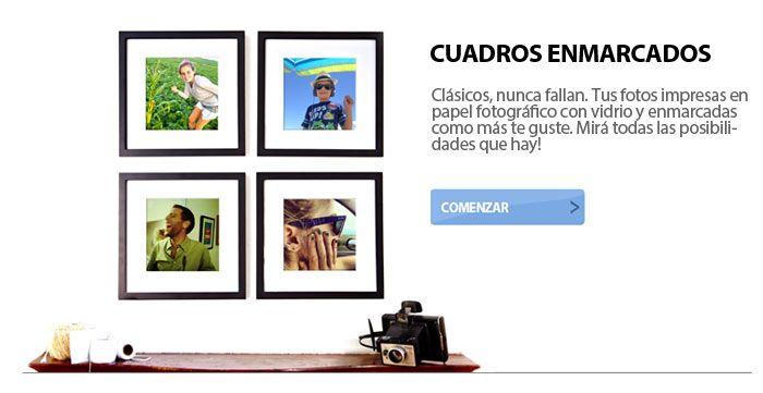 CUADROS ENMARCADOS CON TUS FOTOS | Cosas para comprar | Pinterest ...