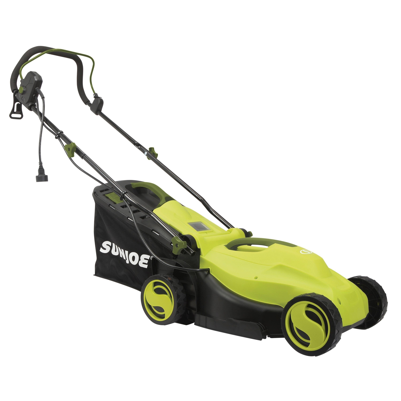 Sun Joe Electric Lawn Mower 13 Inch 12 Amp Green Metal