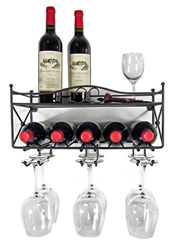 Mango Steam Wall Mounted Wine Rack With