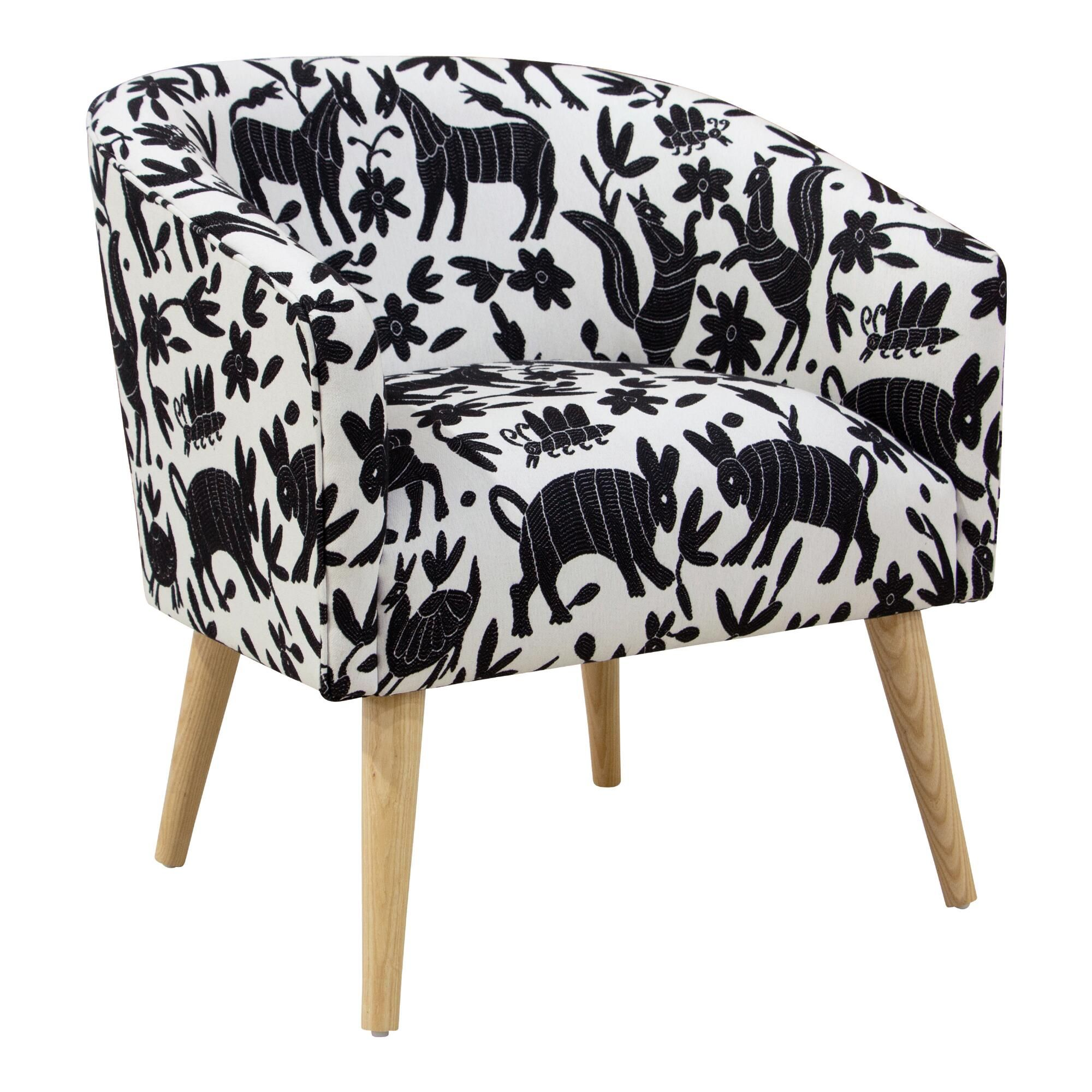 Pinata Tuxedo Ilana Upholstered Chair Black White Cotton By World Market In 2020 Upholstered Chairs Furniture Chair #world #market #living #room #chairs