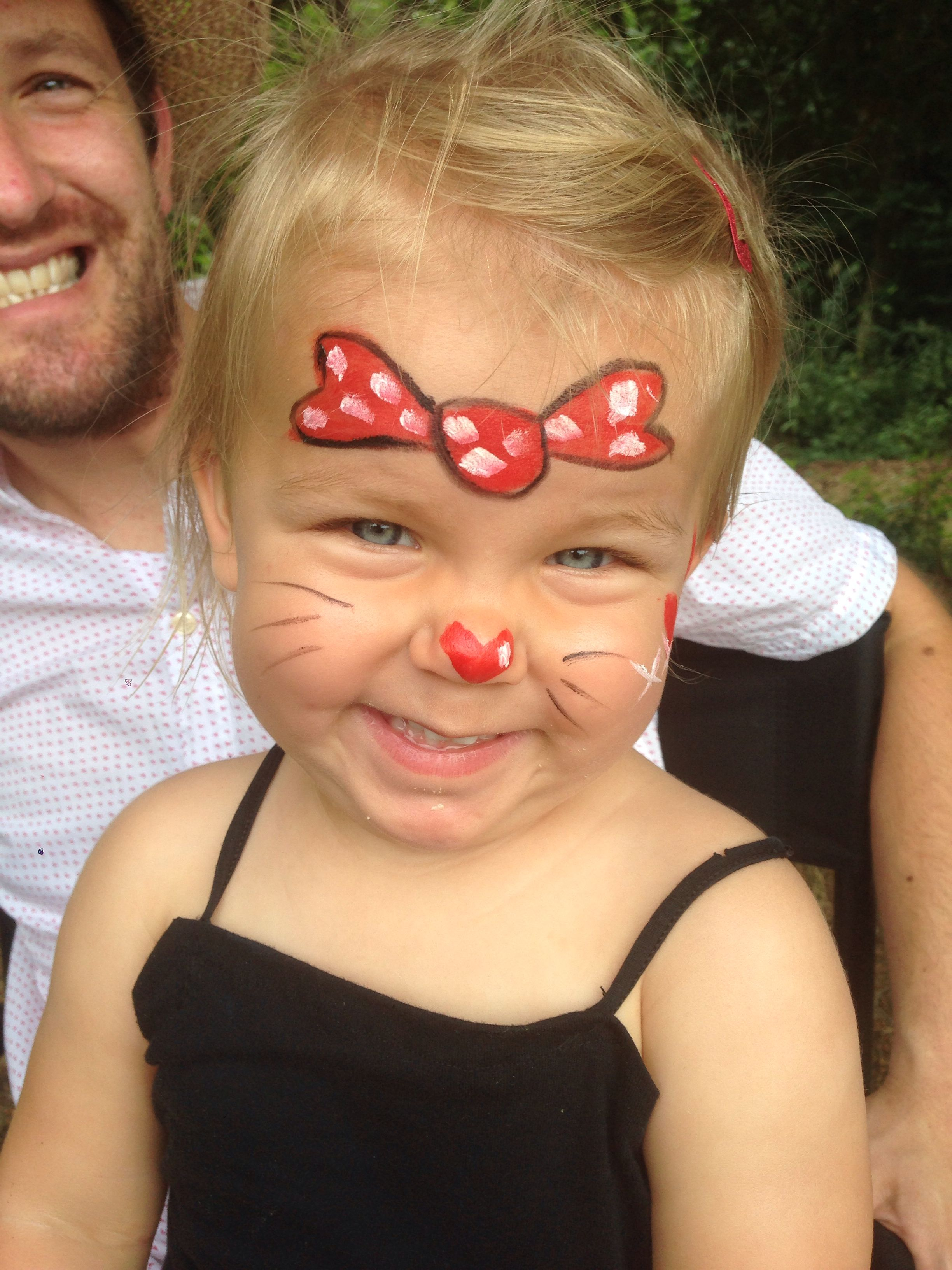 Minnie Mouse face paint | Minnie mouse face painting, Best ...