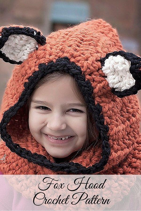 Crochet PATTERN - Fox Hood Cowl Crochet Pattern | Pinterest ...