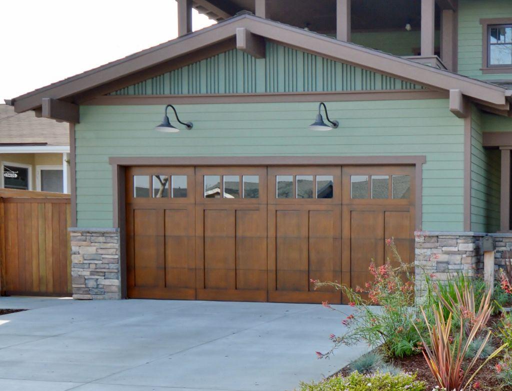Shallow Gooseneck Light Complements Arts Crafts Style Home Inspiration Barn Lighting Garage Lights Exterior Garage Lighting