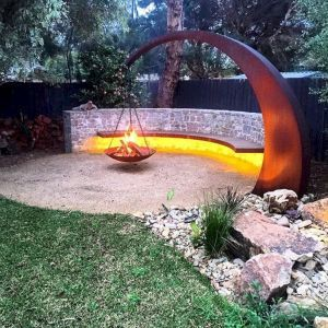 75 Easy and Cheap Fire Pit and Backyard Landscaping Ideas #firepitideas
