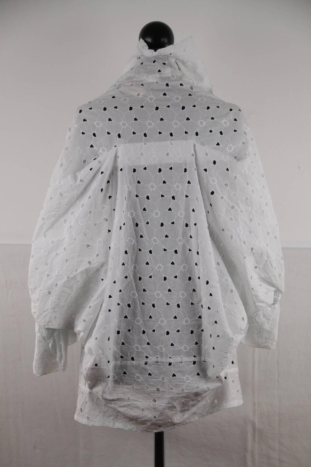 JUNYA WATANABE For COMME DES GARCONS White Broiderie Anglaise SHIRT