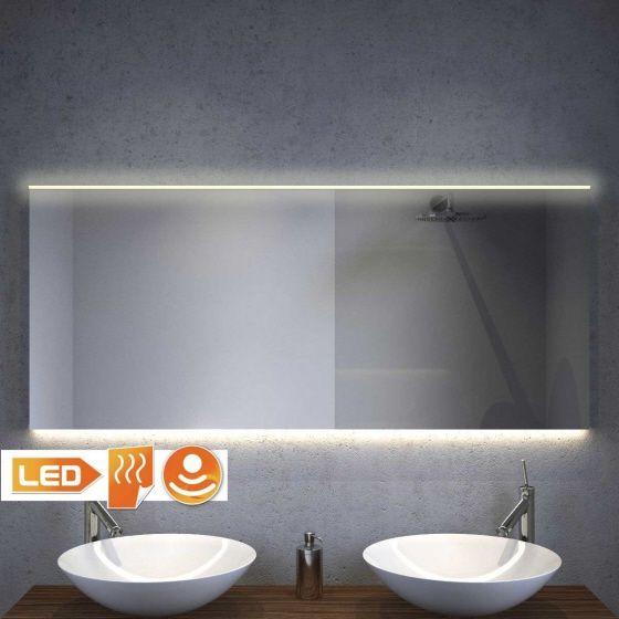 Nieuw design! Badkamer spiegel met warm witte verlichting bovenin en ...
