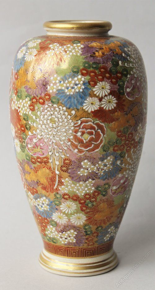 Antiques Atlas Antique Japanese Satsuma Vase Vintage Satsuma
